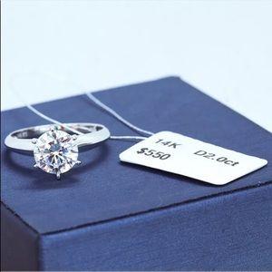 14K  silver wedding ring